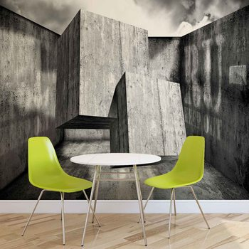 Abstrait Moderne Béton Fototapeta