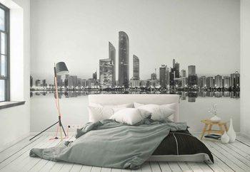Abu Dhabi Urban Reflection Fototapeta