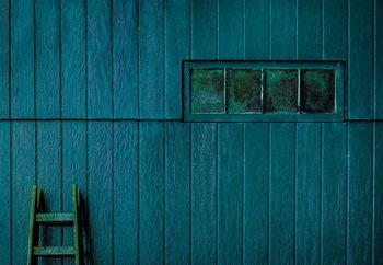 Blue And Green Fototapeta
