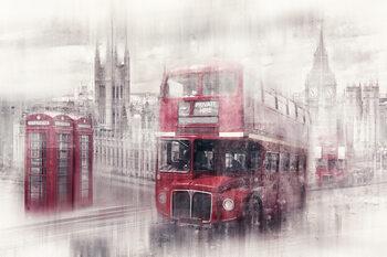 City Art LONDON Westminster Collage Fototapeta