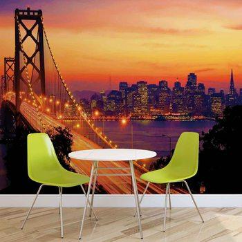 City Skyline Golden Gate Bridge Fototapeta
