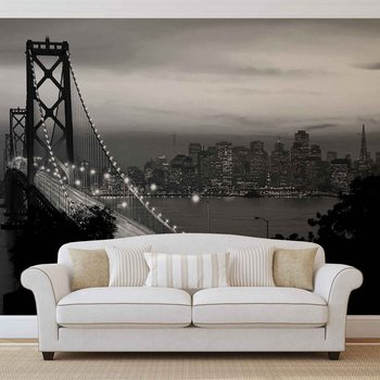 City Skyline Golden Gate Bridge Fototapeta