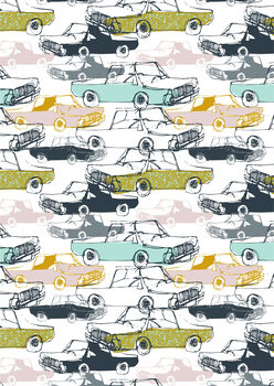 Cool Cars - Pattern Fototapeta