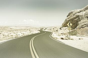 Country Road USA   Vintage Fototapeta
