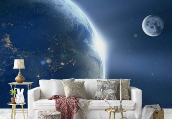 Earth And Moon Fototapeta