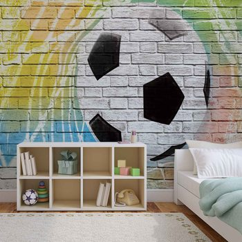Football Wall Bricks Fototapeta