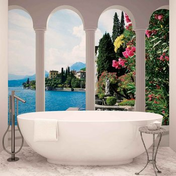 Lake Como Italy Arches Fototapeta