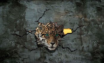 Leopard 3D Fototapeta