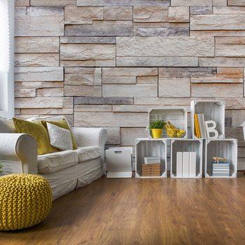 Light Stone Wall Texture Fototapeta