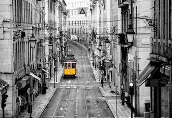 Lisbon Black And White Fototapeta