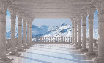 Mountain Scene Through The Arches Fototapeta