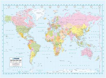 Politická mapa sveta Fototapeta
