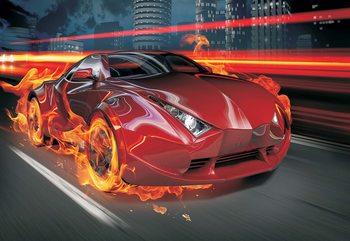 Red Car Fototapeta