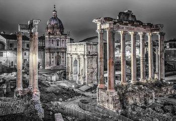 Roman Forum Rome Ancient Ruins Fototapeta