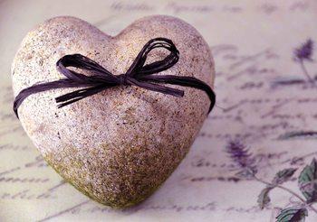 Stone Heart Flower Tie Fototapeta