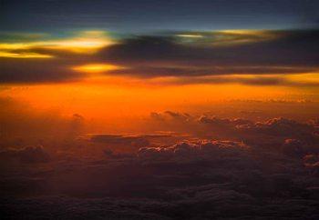 Sunset Over Sky Fototapeta