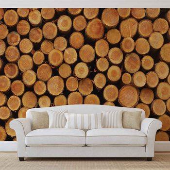 Texture de Bûches de Bois Nature Fototapeta
