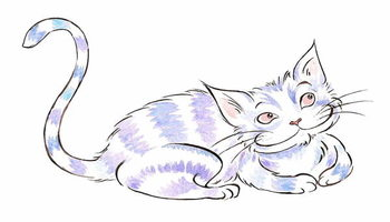 The  Cheshire Cat - illustration to  Lewis Carroll 's 'Alice's Adventures in Wonderland' , 2005 Fototapeta
