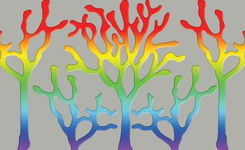 Tree Abstract Rainbow Fototapeta