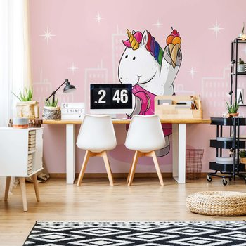Unicorn Pink Fototapeta