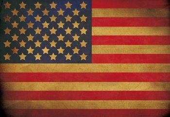 Vintage Flag Usa America Fototapeta