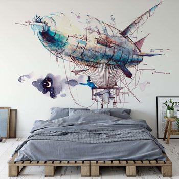 Watercolour Airship Fototapeta