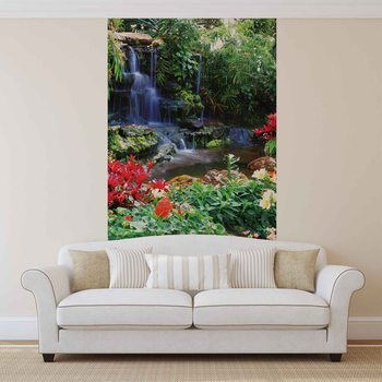 Waterfall Forest Nature Fototapeta