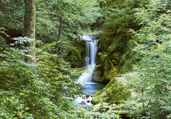 WATERFALL IN SPRING Fototapeta
