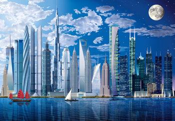 WORLDS TALLEST BUILDINGS Fototapeta