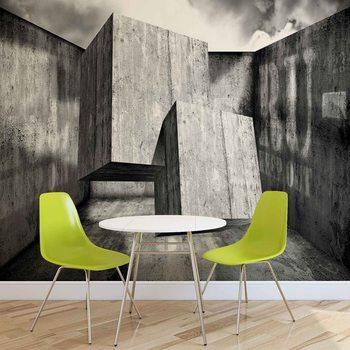 Abstrakt Modern Beton Quadrate Fototapete