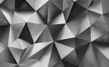 Abstrakte Kunst Grau Fototapete