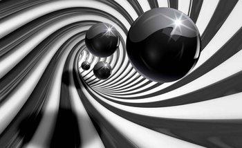Abstrakte Wirbel Modern Kugeln Fototapete