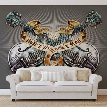 Alchemy Gitarren Schädel Fototapete