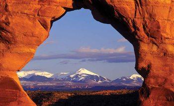 Ausblick Felsen Berge Natur Fototapete