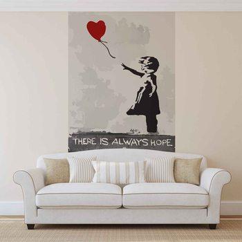 Banksy Straßenkunst Ballon Herz Graffiti Fototapete