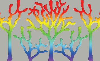 Baum Abstrakt Regenbogen Fototapete