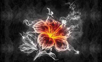 Blume Neonfarben Fototapete