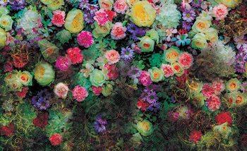 Blumen Bunt Design Fototapete