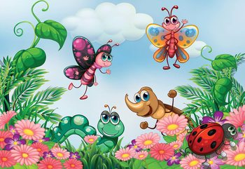 Cartoon Bugs Fototapete