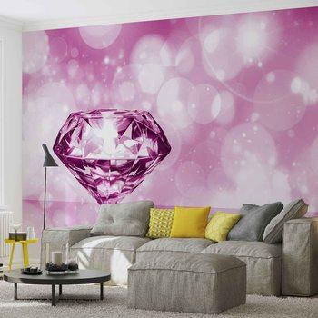 Diamant Rosa Fototapete