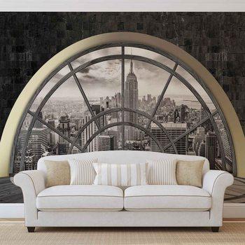 Fenster New York City Empire State Fototapete