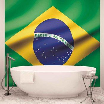 Flagge Brasilien Fototapete