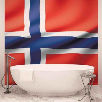 Flagge Norwegen Fototapete