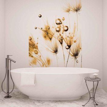 Golden Dandelion Fototapete
