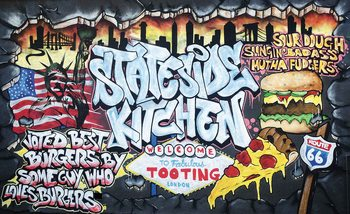 Graffiti Street Art Kitchen Fototapete
