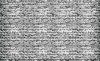 Graue Backsteinmauer Fototapete