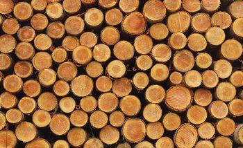 Holz Gestapelt Fototapete