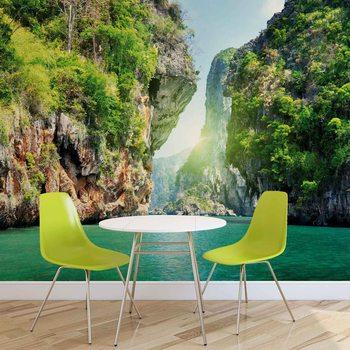 Lagune Berge Natur  Fototapete