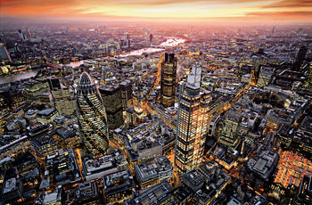 LONDON AERIAL VIEW Fototapete