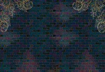 Luxury Dark Brick Wall Fototapete
